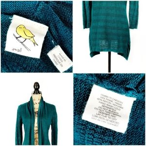 Anthropologie Sweaters - Anthropologie Drape Neck Open Cardigan Teal